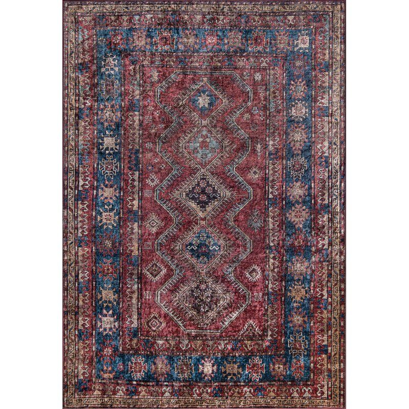 Korn Persian Inspired Burgundy Area Rug With Images Area Rugs Beige Area Rugs Rugs