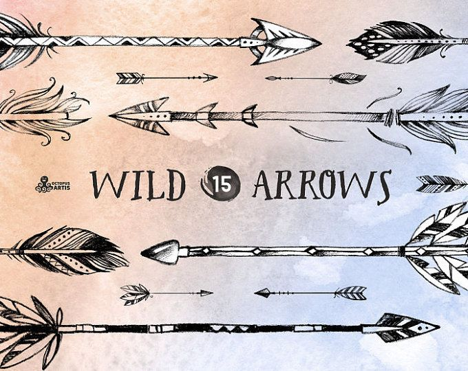 Browse Unique Items From Octopusartis On Etsy A Global Marketplace Of Handmade Vintage And Creative Goods How To Draw Hands Drawing Clipart Wild Arrow