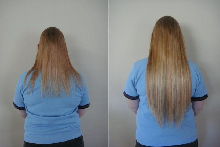 Before After Baby Doll Hair Extensions 185gram Clip In Human Reduced