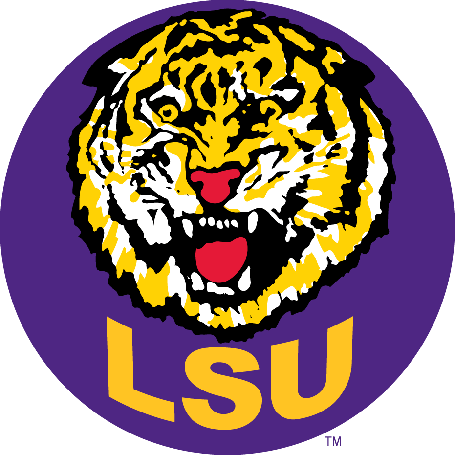 Lsu Football Logo Lsu Tigers Secondary Logo Ncaa Division I I M Ncaa I M Chris Lsu Tigers Lsu College Football Logos