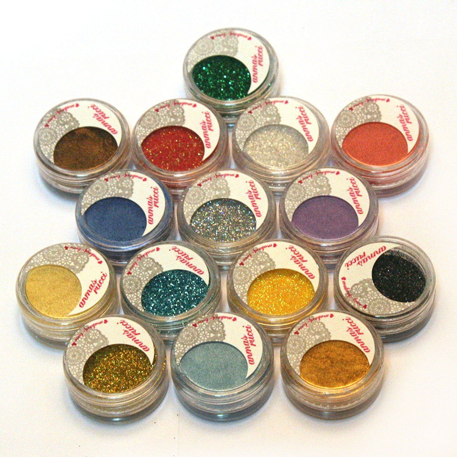 15 Warm Color Glitter Shimmer Pearl Loose Eyeshadow
