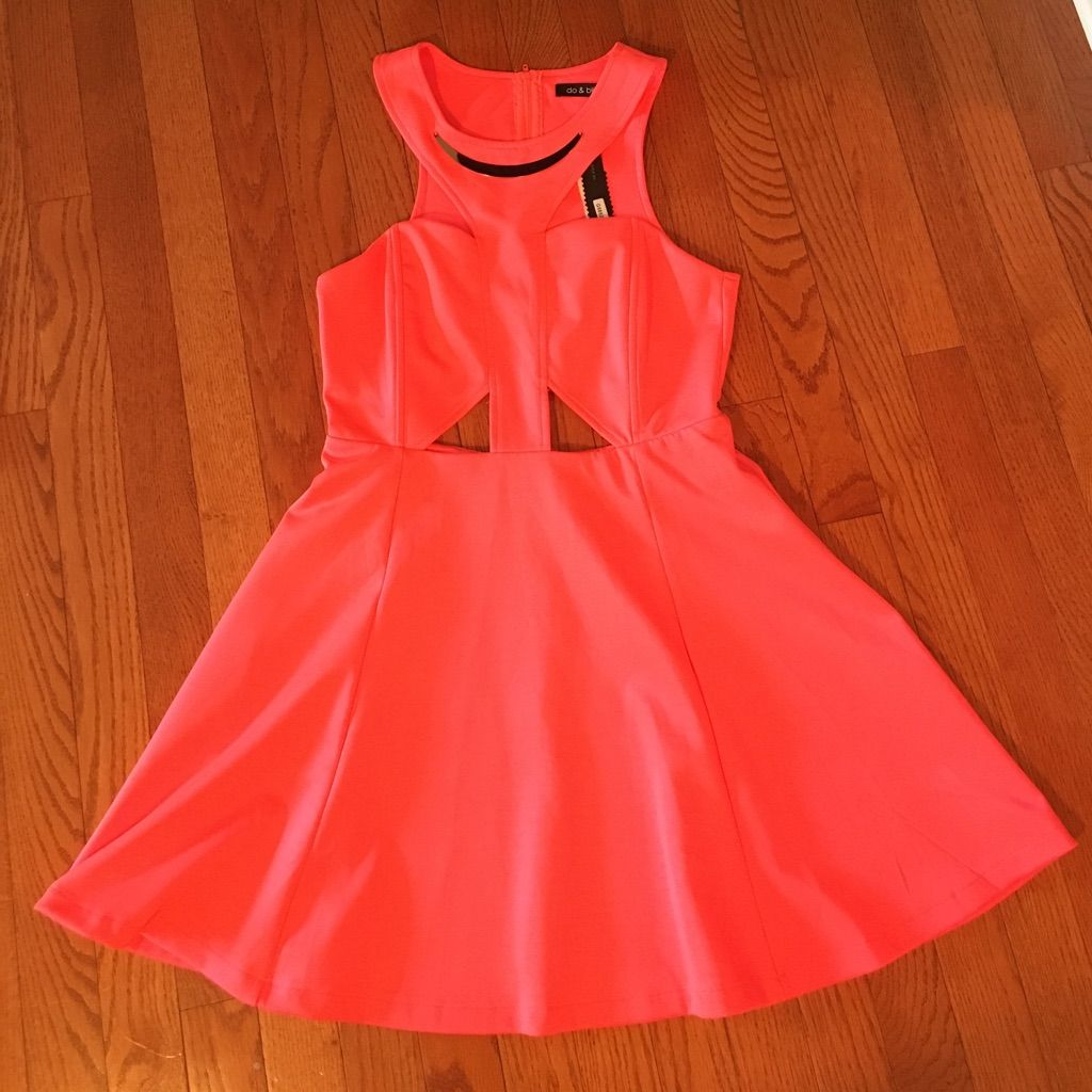 Hot pink and orange dress  Hot Pink Cut Out Dress Nwt  Hot pink and Products