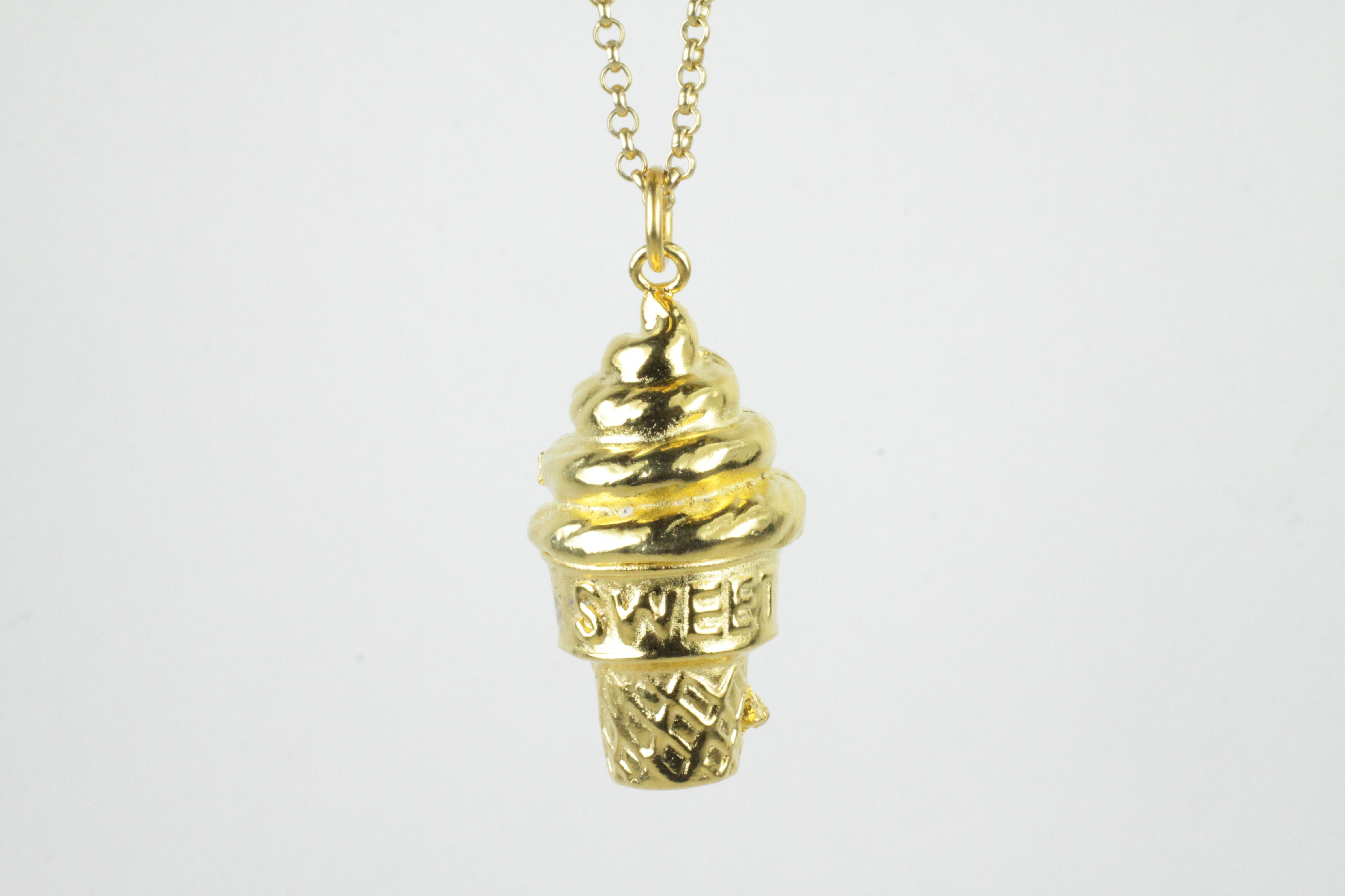 Sweet gelato in pewter available in rhodium or k gold plated with