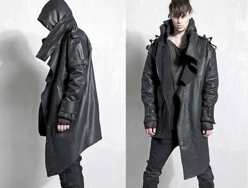 Black is back! Anarchy leather coat by DEMOBRAZA | A/W 2012 | RECALCULATING pinned with Pinvolve