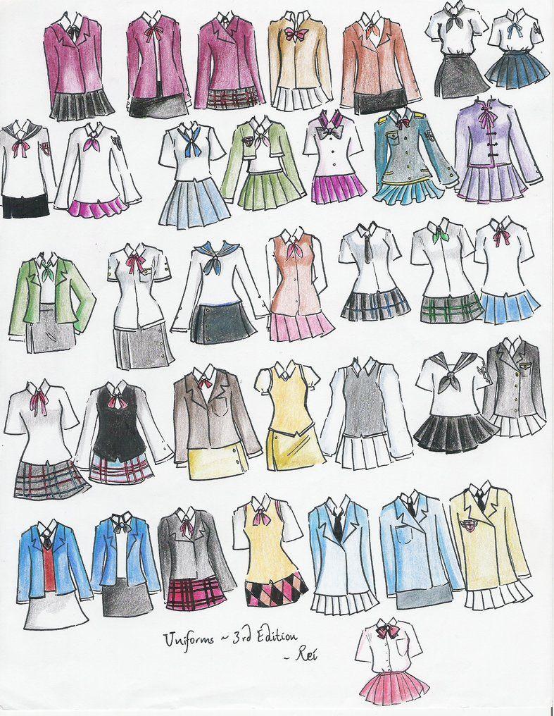 School Uniforms 3rd Edition By Neongenesisevarei On Deviantart