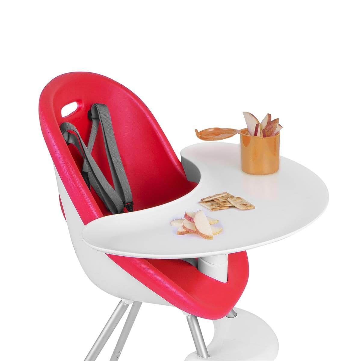 Phil Teds Poppy Baby High Chair With Food Tray In Cranberry