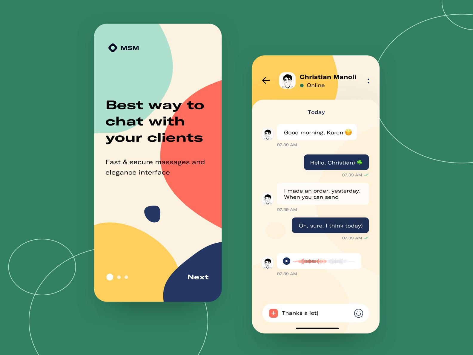 MSM Chat App Concept in 2020 Chat app, App design, Msm