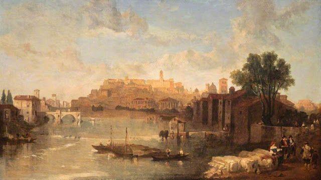 David Roberts - View on the Tiber, Rome, 1862