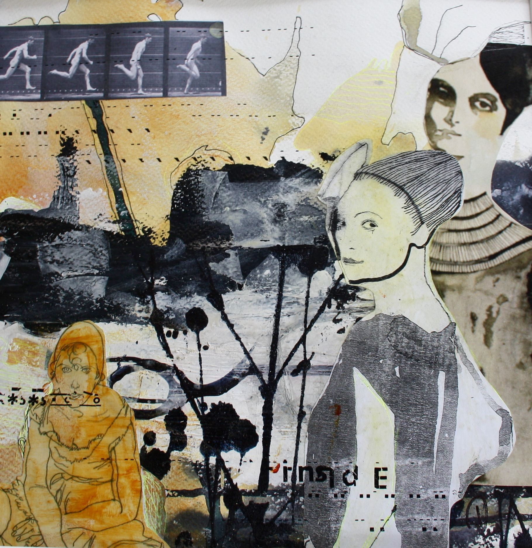 Mennesker Maleri Collage Abstrakt Art Udstillinger Kursus Akrylmaleri Rie Brodsgard Kolding Galleri Malerier Abstrakt Akrylmalerier