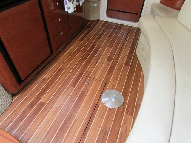 340 searay with teak & holly | harbor island interior floors