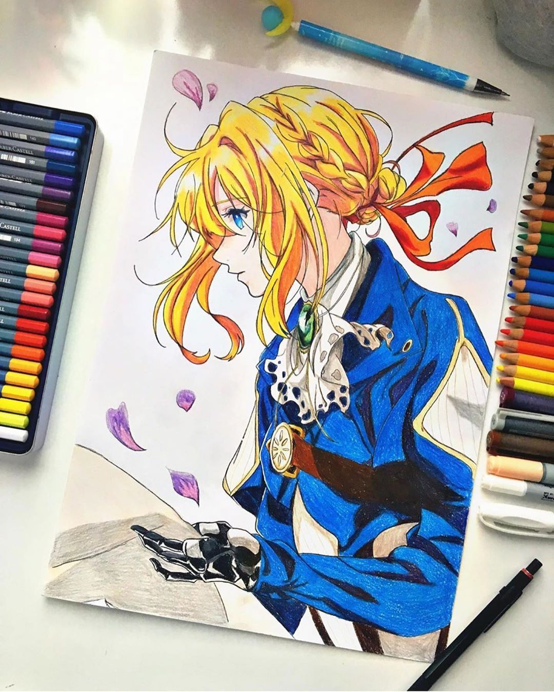 Violet Evergarden  Epic coloring!  Featured artist : @haruchannie.art  ... Leave... #anidrugfeature #anime #animeart #animeartfeature_ #animeartist #animedraw #animefeatureworld