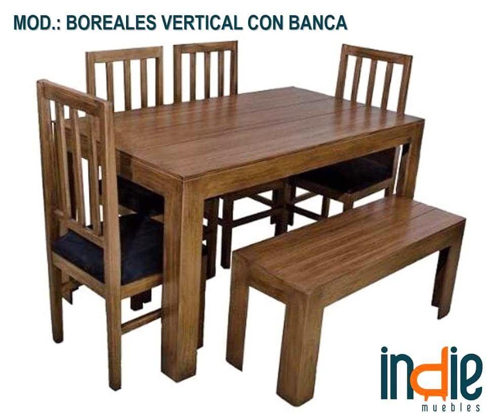 Comedor modelo: Boreales vertical con banca. Ven y llévate este ...