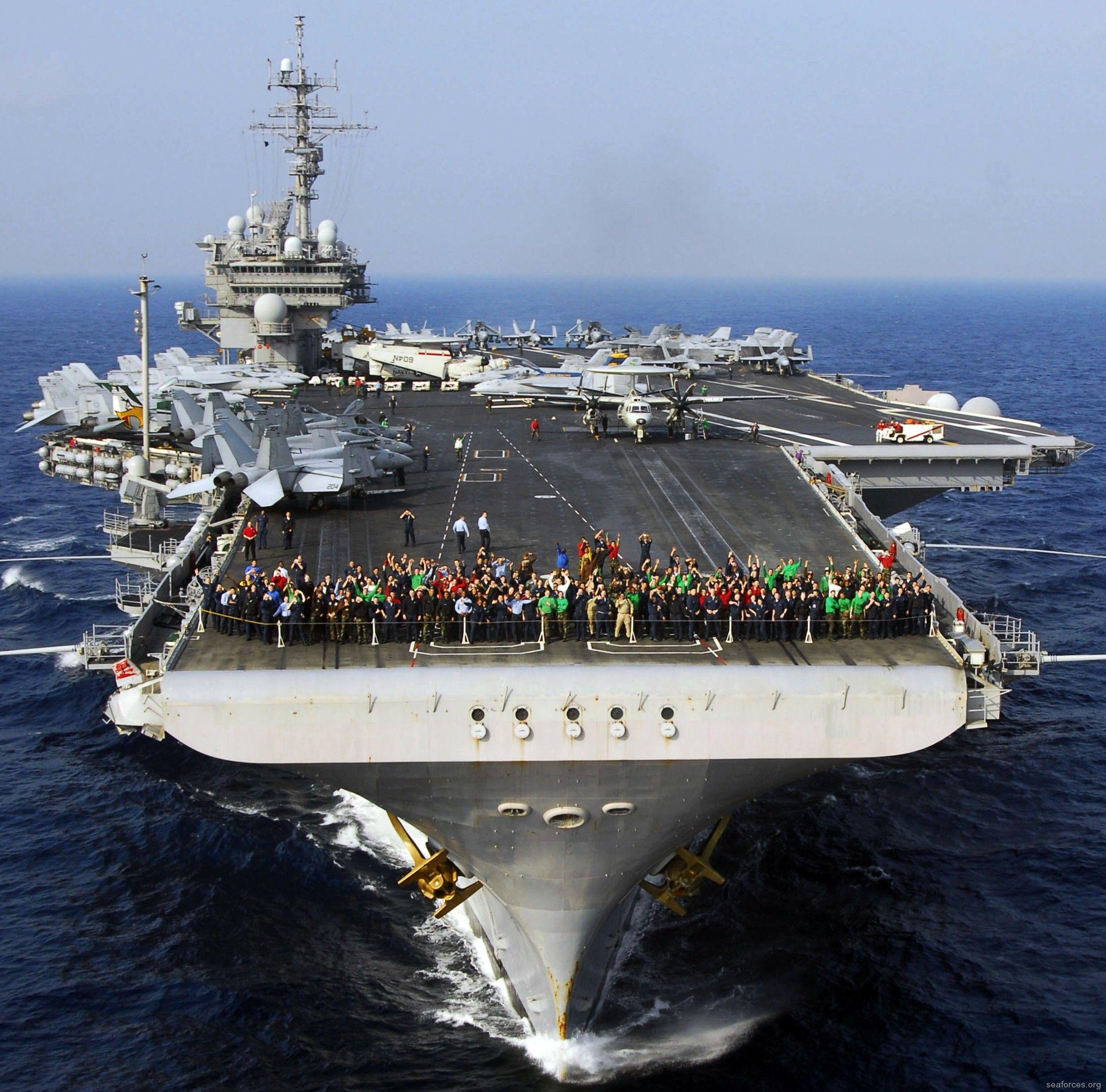 USS Kitty Hawk CVA CV63 Aircraft Carrier US Navy