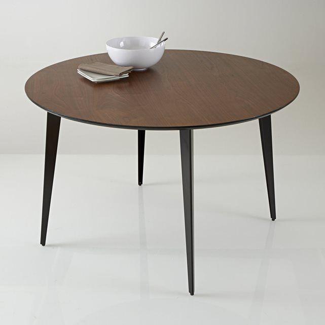 table repas ronde vintage watford la redoute interieurs prix avis notation livraison table de repas ronde et vintage watford laquee aux courbes