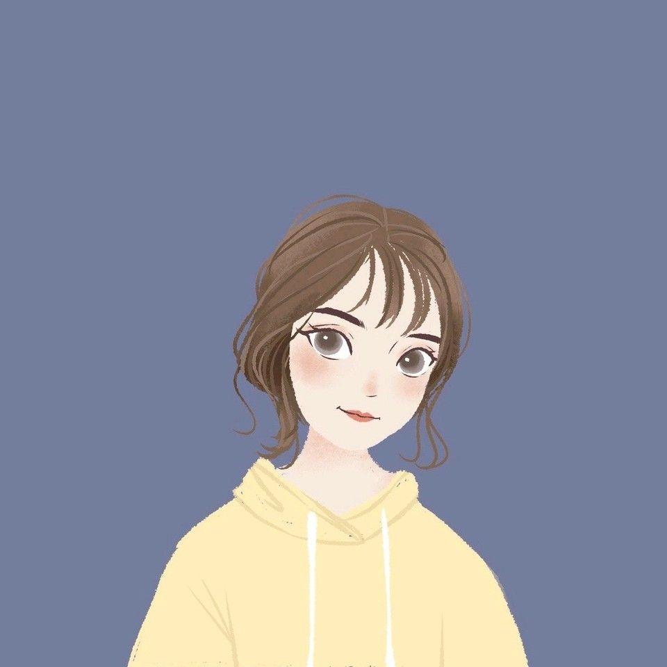 Hey Girl Ilustrasi Karakter Gadis Animasi Gambar Simpel