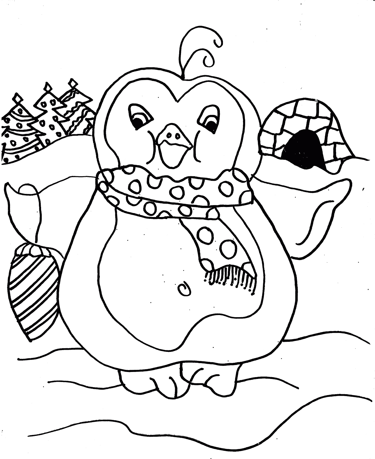 I have download Penguin That Feel So Cool Coloring Page