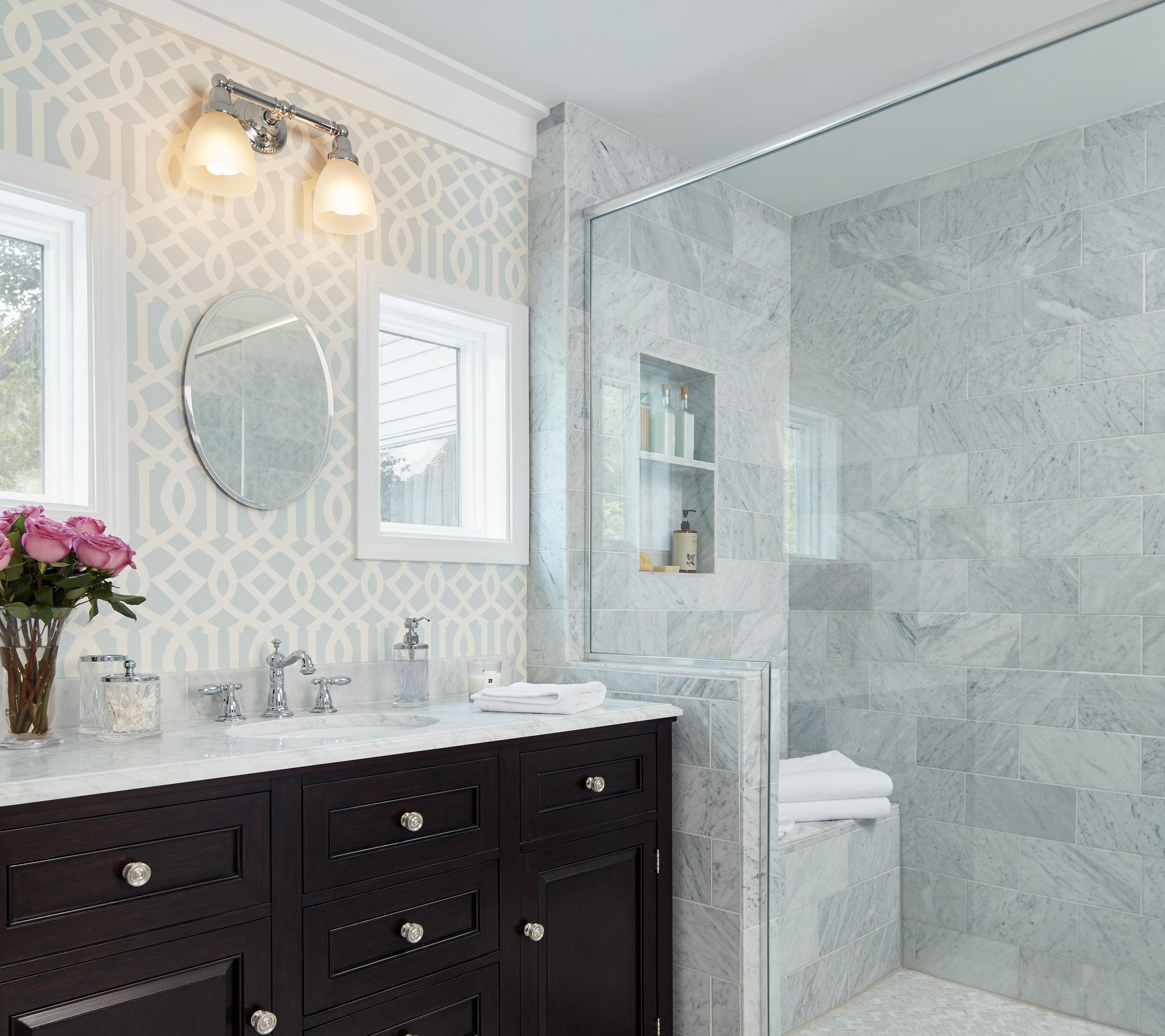 Before And After Bath Classic And Calming Bathroom Remodel