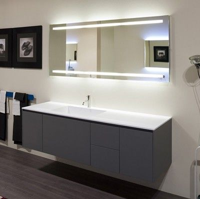 Badspiegel mit Beleuchtung Spiegel Badspiegel Pinterest - badezimmerspiegel mit licht