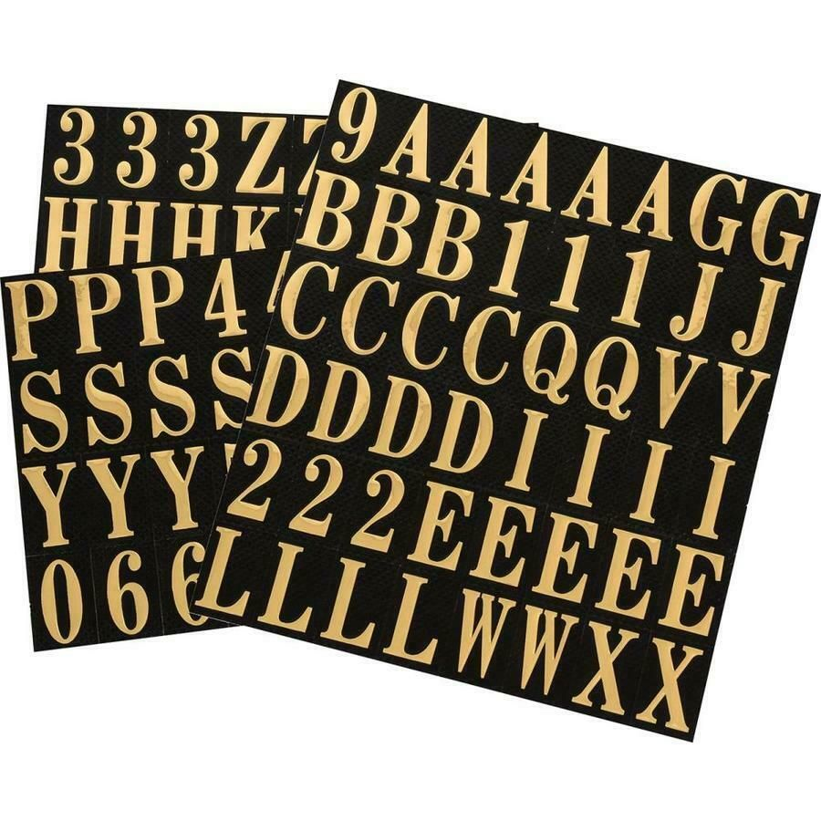 Gold Self Adhesive Mylar Mailbox Letters And Numbers Sticker 1 In Indoor Outdoor Fashion Home Garden Gold Letters Letters And Numbers Vinyl Number Stickers