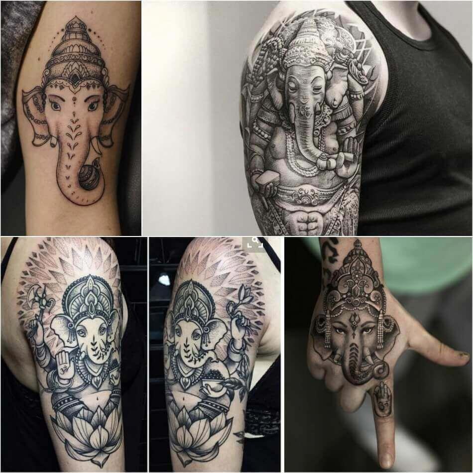 populargeometrictattoos Татуировки со слонами, Дизайн