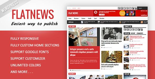 awesome Flat News Responsive Magazine WordPress Theme