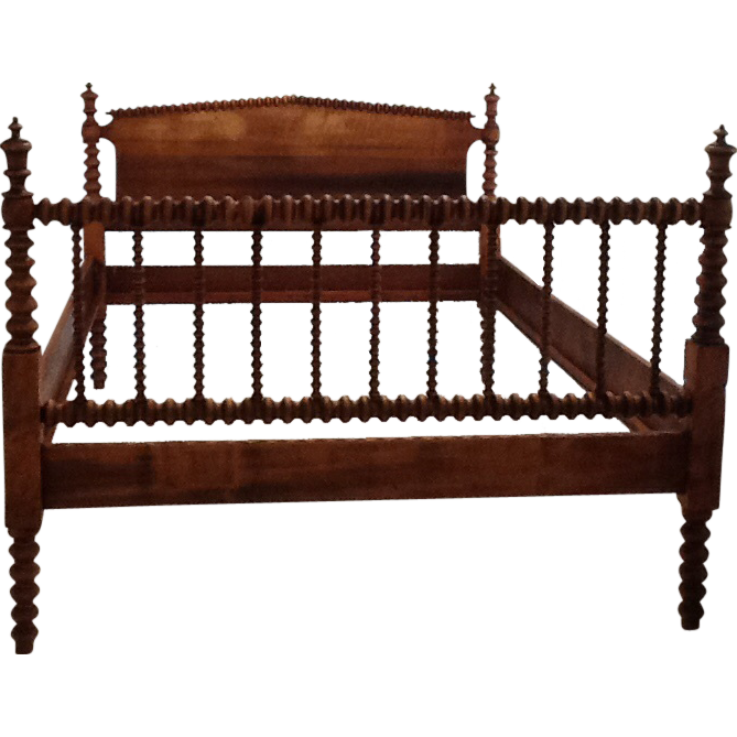 This Gorgeous Bed Frame Is A True Jenny Lind Style Spindle Bed With Angled Corners And Beautiful Dark Wood Mid 1850 How To Antique Wood Spool Bed Spindle Bed