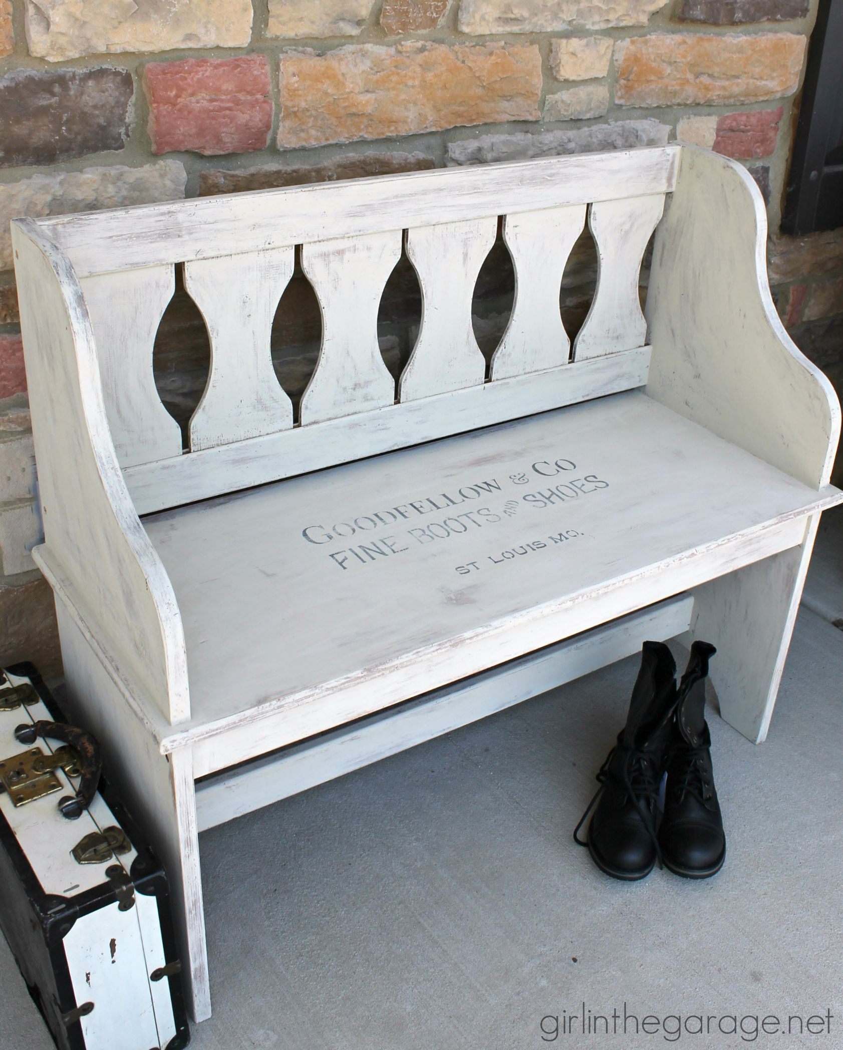 Goodfellow Stenciled Bench Bank