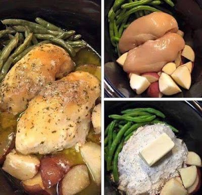 Crockpot Chicken and Vegetables ~ Missie's Kitchen