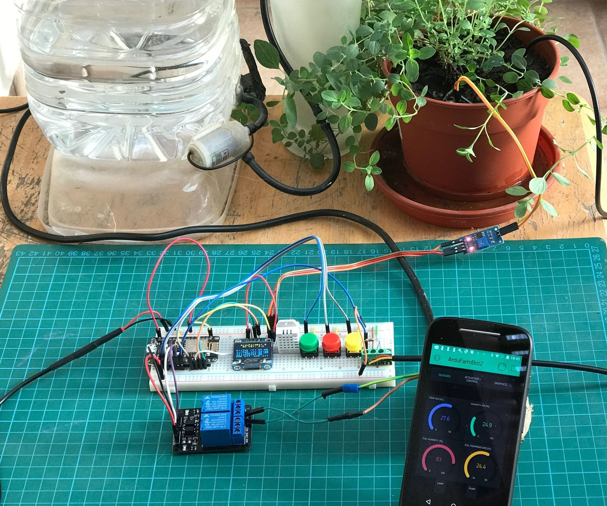 Automatic Gardening System With Nodemcu And Blynk The Ardufarmbot Keep To Beat Heart Rate Monitor Tutorial Pitop 2
