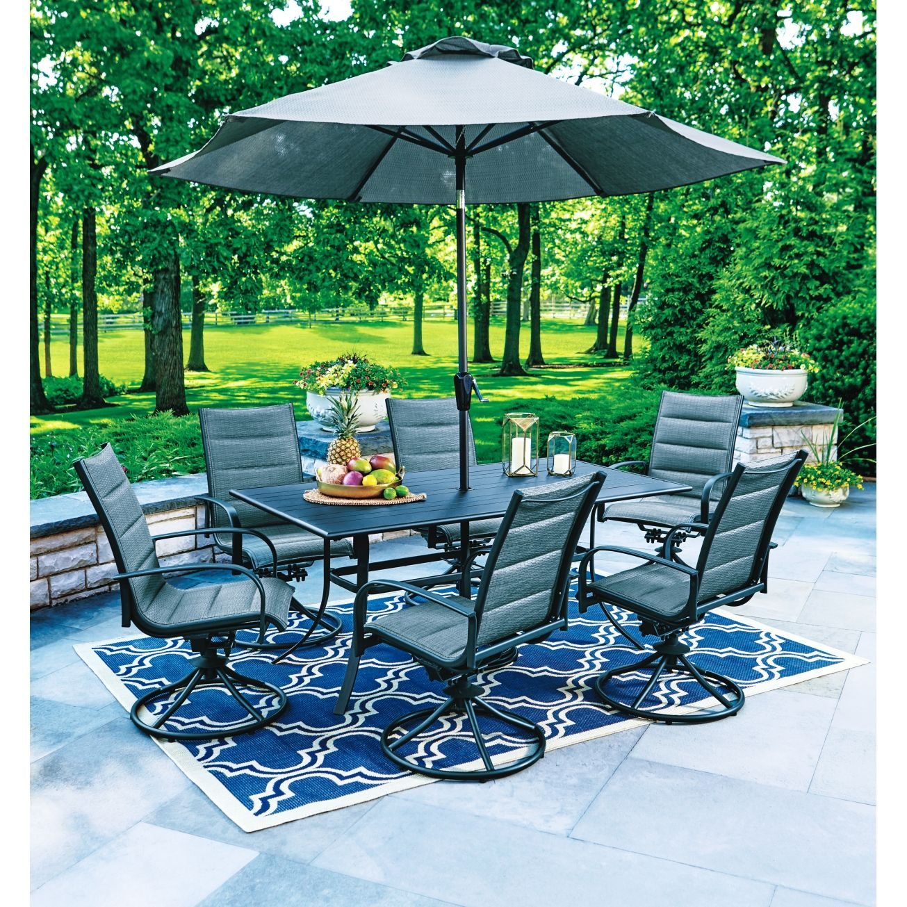 Living Accents Brookstone Dining Set Brown(RXAC-1819-SET ... on Living Accents Patio id=27624