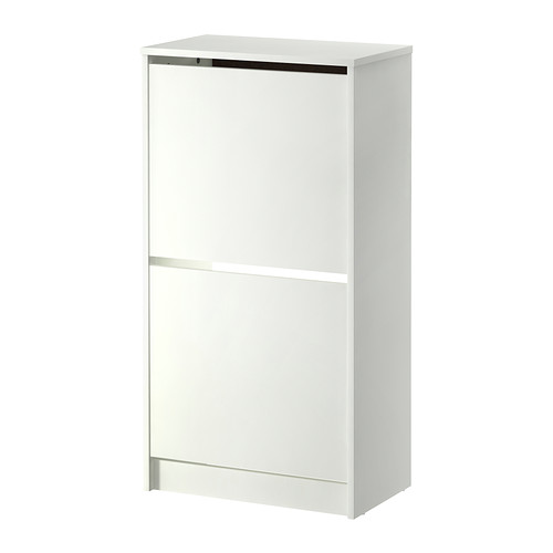 Bissa Shoe Cabinet With 2 Compartments White 19 1 4x36 5 8