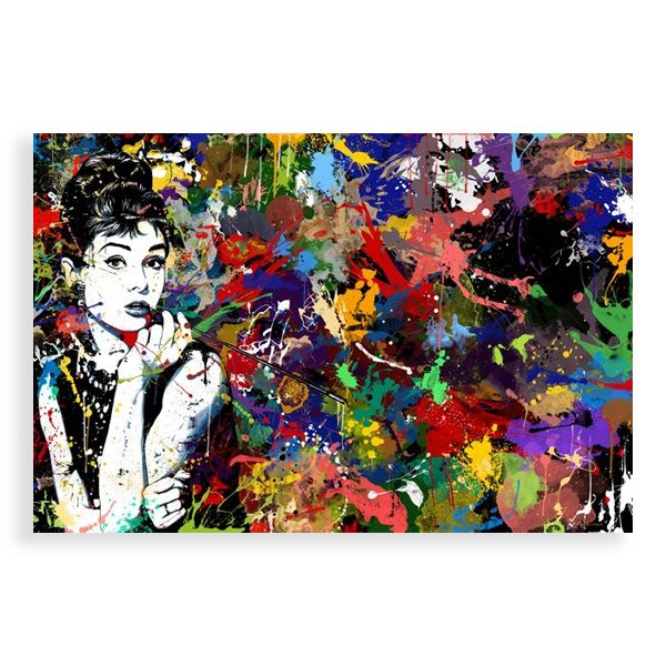Maxwell Dickson Audrey Hepburn Print Pop Art Canvas Modern Wall Art Canvas Pop Art