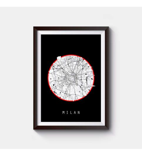 Milan map italy map europe map prints poster world map map of milan map italy map europe map prints poster world map map of italy wall decor home sciox Gallery