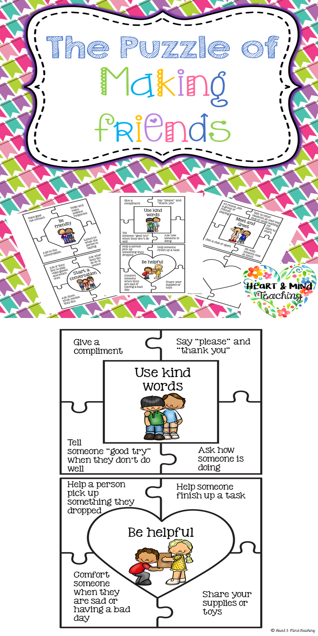 The Puzzle Of Making Friends Activity How To Make Friends