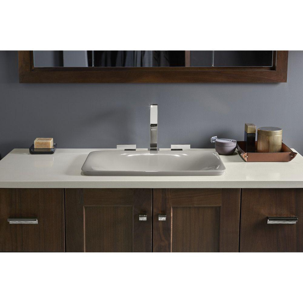 Kohler K 7799 0 Carillon White Above Counter Single Bowl Bathroom Sinks Efaucets C Rectangular Sink Bathroom Minimalist Bathroom Design Minimalist Bathroom