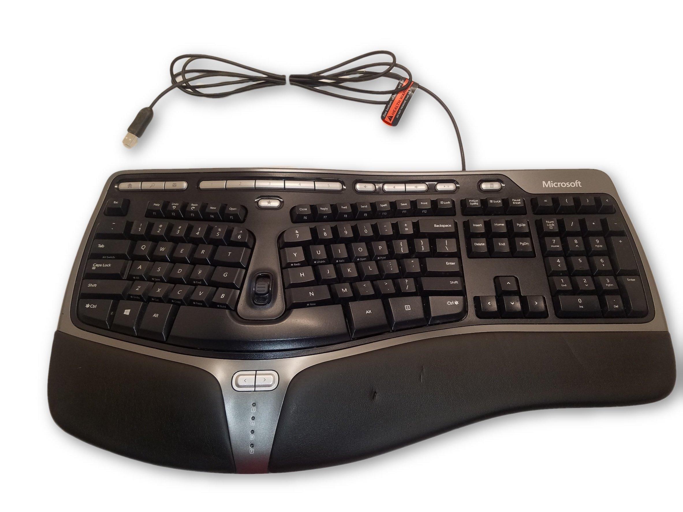 Microsoft Natural Ergonomic Keyboard 4000 V1 0 Keyboard Ergonomics Microsoft