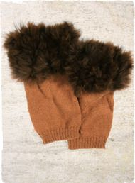 The alpaca fur-trimmed legwarmers are as functional as they are chic.