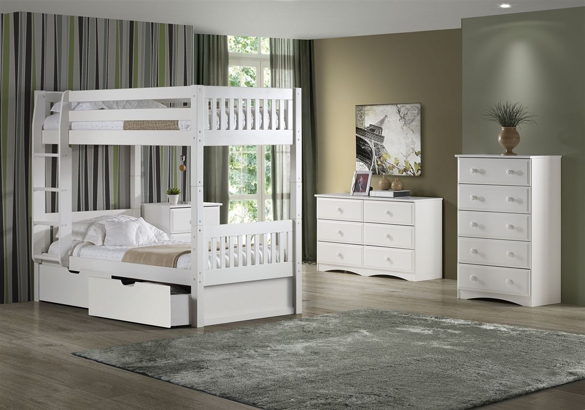 High Bunk Bed With Conversion Kit & Drawers Mission