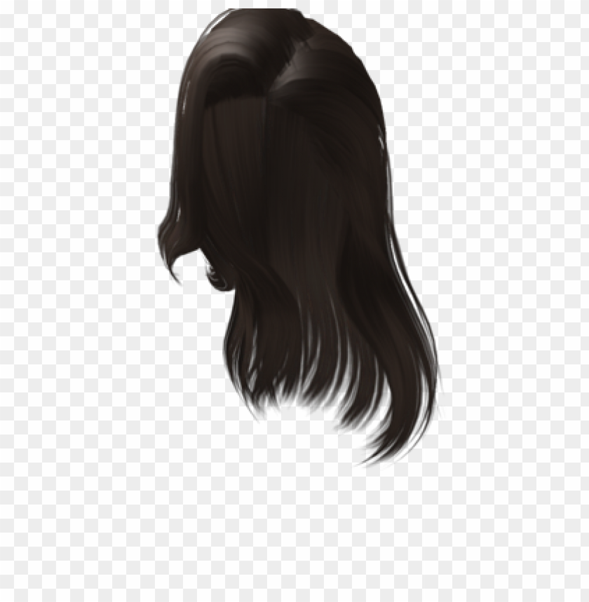 Free Roblox Black Hair Png Image With Transparent Background Png Free Png Images In 2020 Black Hair Roblox Hair Png Black Hair