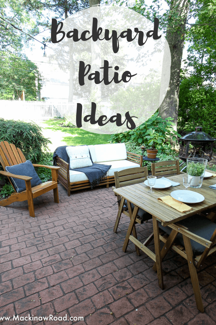 Inexpensive Backyard Patio Ideas Mackinaw Road Backyard Patio