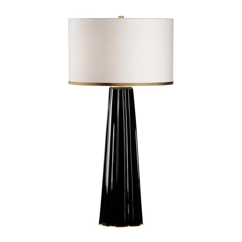 Chelsea House Lighting Scalloped Column Lamp Black Eca
