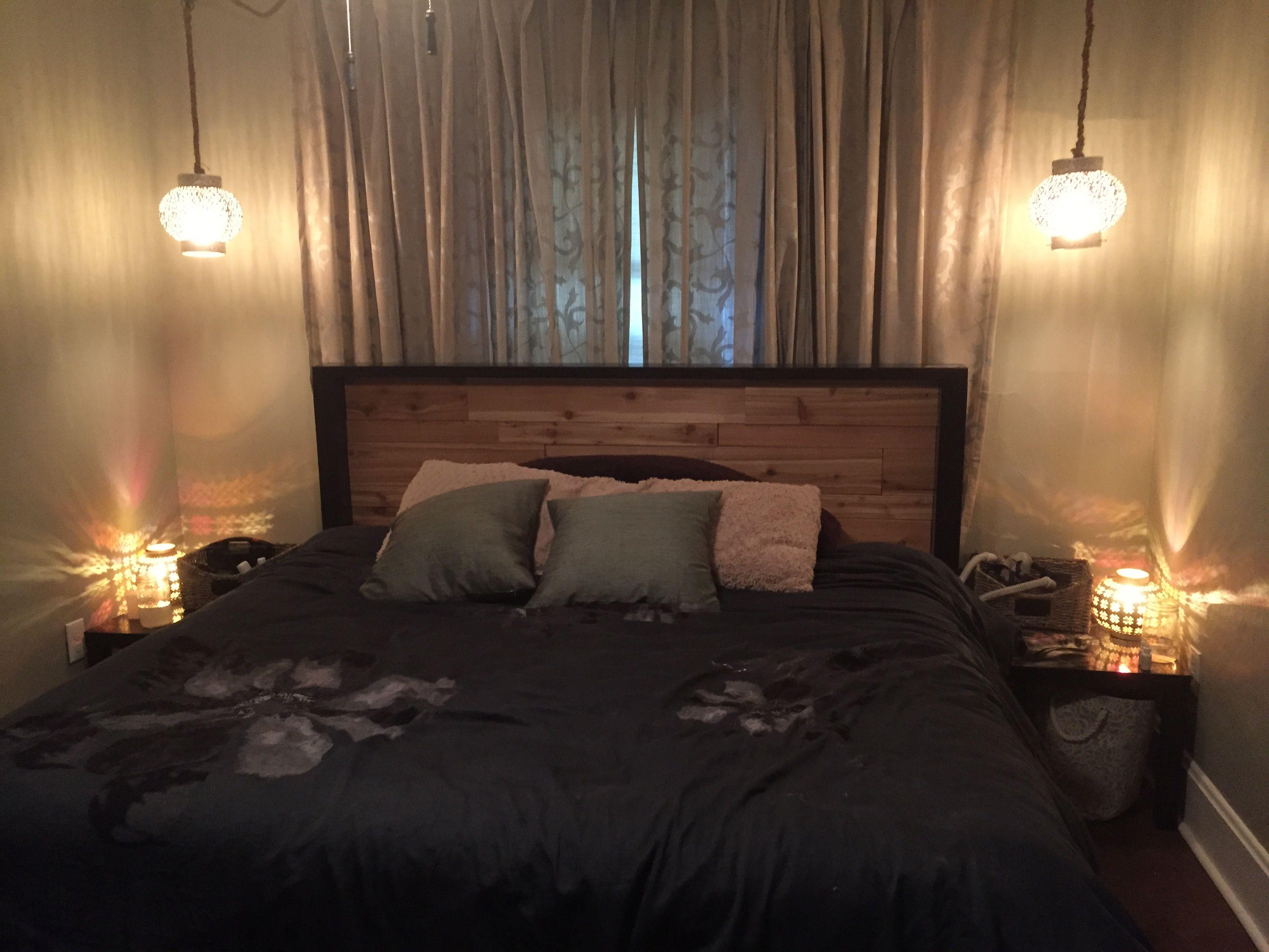 New In The Bedroom The Bedroom Is Done The Handmade Cedar Headboard And Bedframe