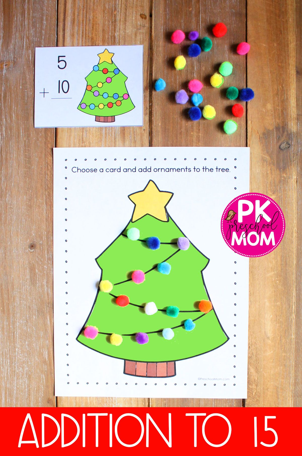 Christmas Tree Ornament Learning Mats