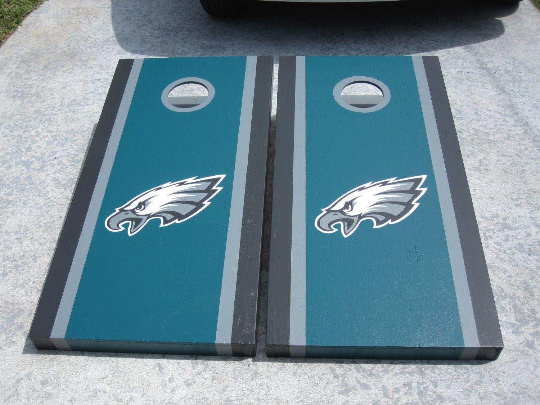 philadelphia eagles custom cornhole boards by bkcustomcornhole 17500