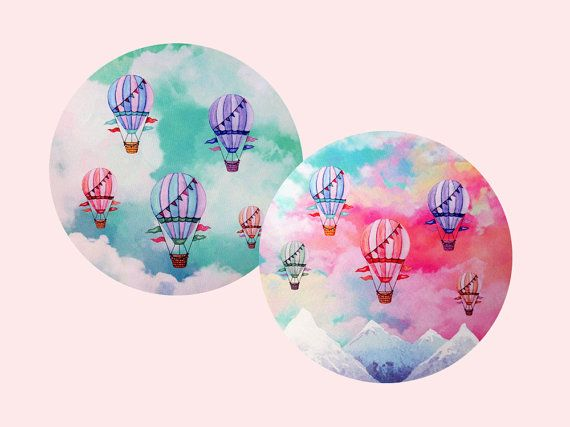 Set of 2 Round Mouse Pads Cute Mousepad Unique by BlissNhome