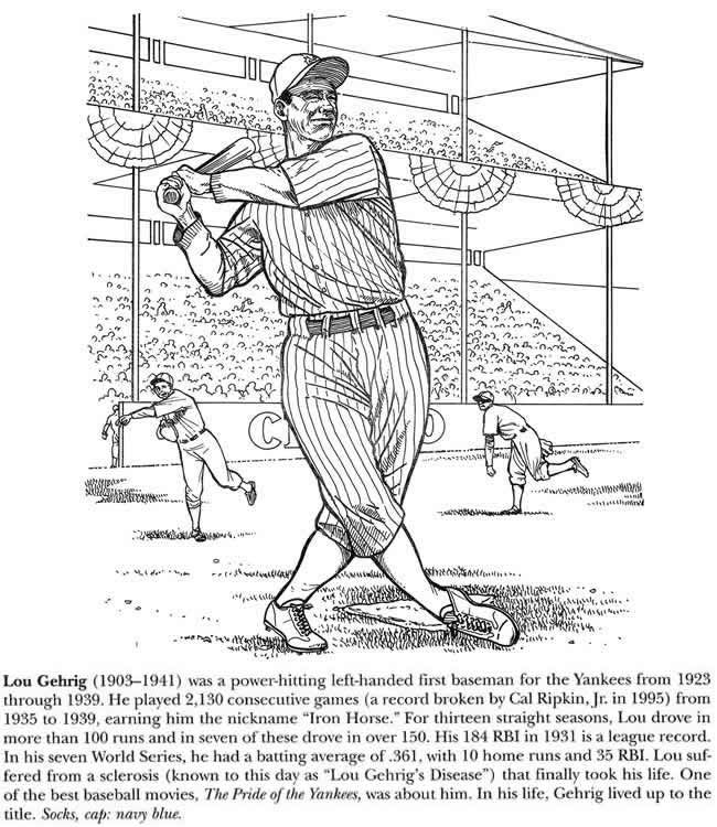 sports pages lou gehrig