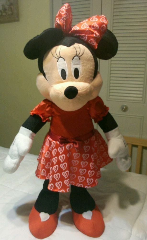 Disney Minnie Mouse Standing Plush Stuffed Animal Big Large 24