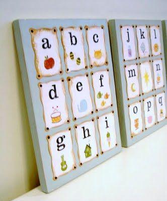 Love this alphabet wall art tutorial