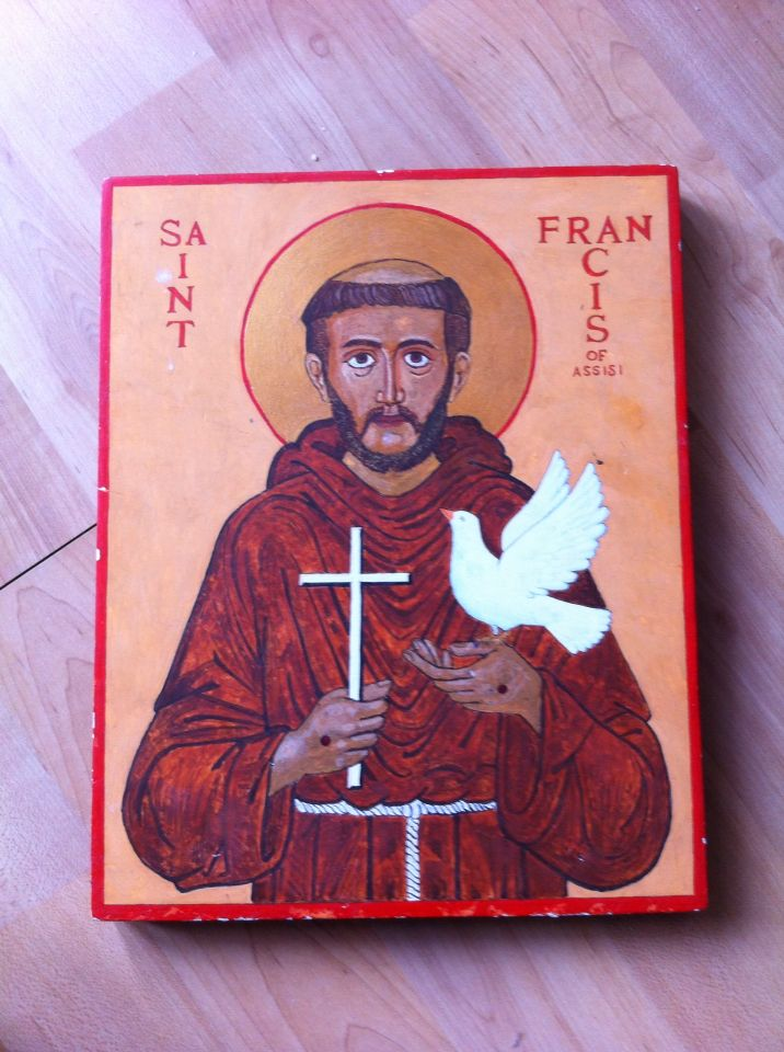 My Icon of St Francis Of Asissi.