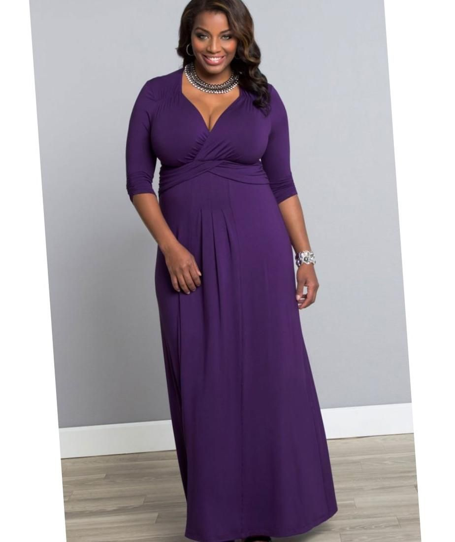 Purple maxi dress plus size for Purple plus size dresses for weddings